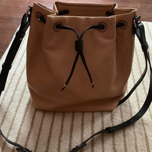 Banana Republic Perforated Leather Bucket Bag